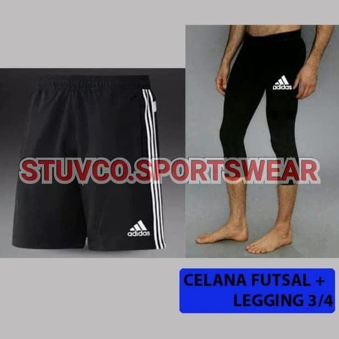 Jual Hot Produk Paket Hemat Celana Legging Pendek Dan Celana Futsal Adidas Jakarta Barat Pillars Jaya Tokopedia
