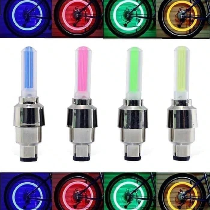Foto Produk Tutup Pentil Roda Ban Lampu nyala Led Sepeda Motor Mobil Sensor Gerak dari AnerStore