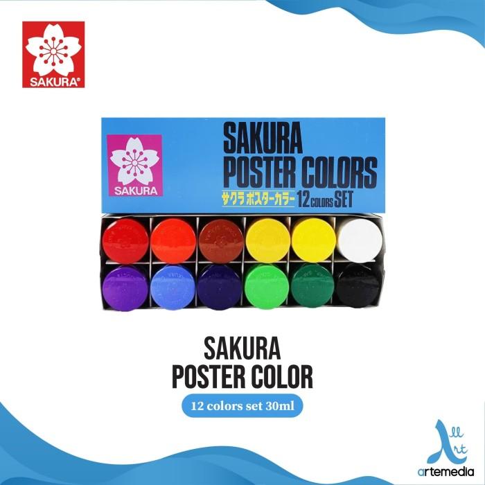 Foto Produk Sakura Cat Poster Set 12x30ml dari Artemedia Shop