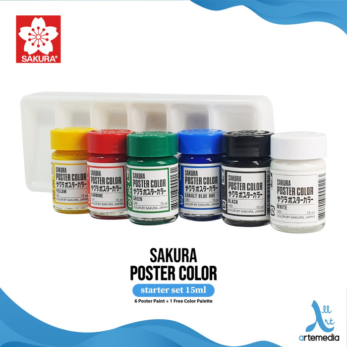 Foto Produk Sakura Cat Poster Starter Set 6x15ml dari Artemedia Shop