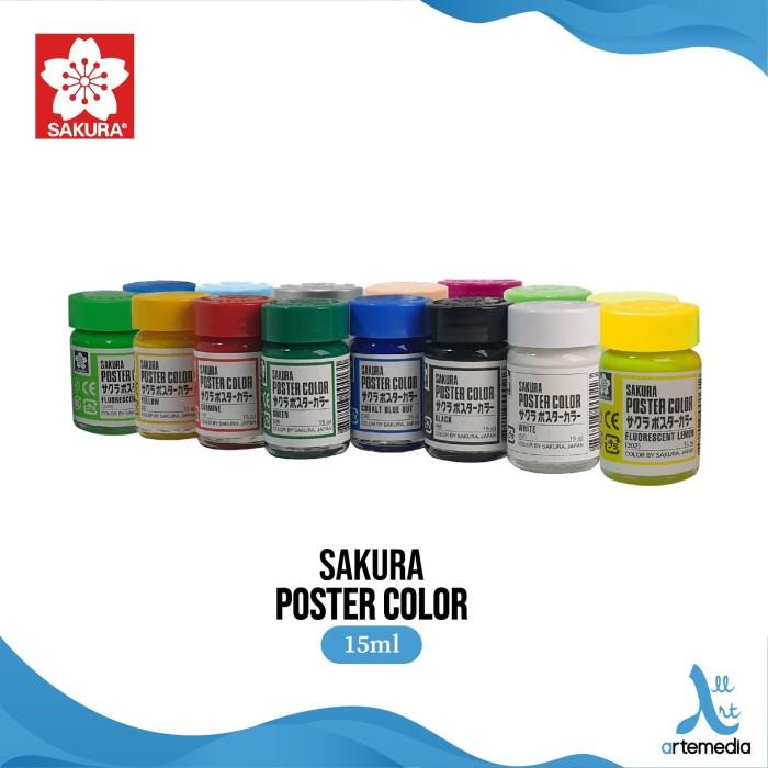 Foto Produk Sakura Cat Poster 15ml - Fluorescent & Metalic - OPERA RED dari Artemedia Shop