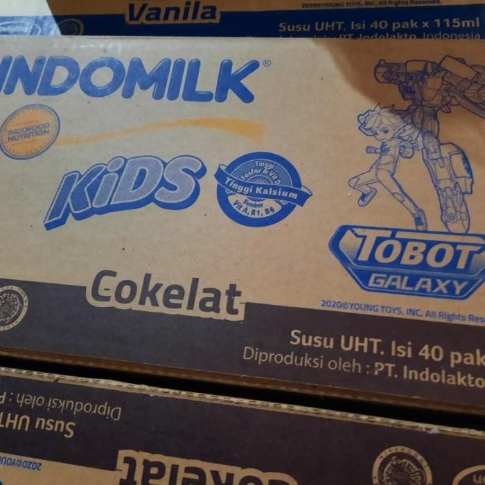 Foto Produk susu UHT indomilk kids 115 ml 1 karton isi 40 pcs| rasa coklat dari AA multyshop