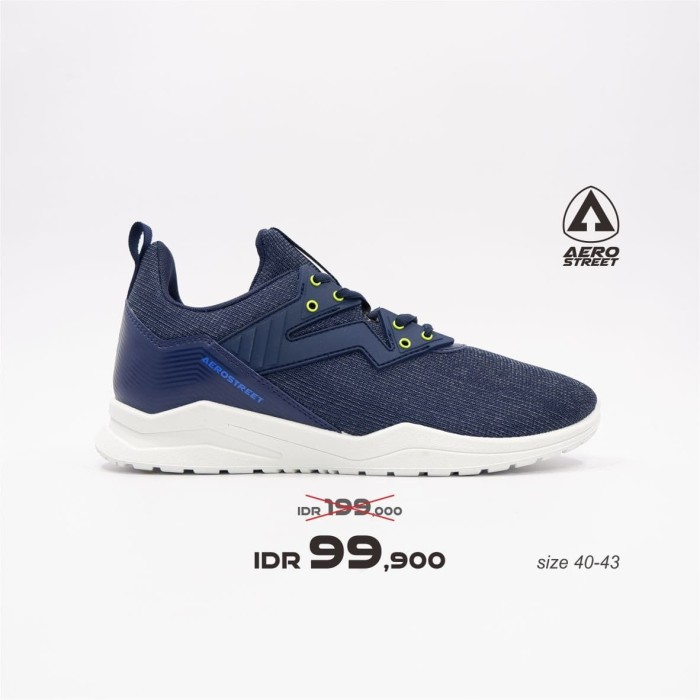 Foto Produk Aerostreet 40-43 Alpha Navy - Sepatu Sneakers Casual Sport Sekolah - 42 dari Aerostreet
