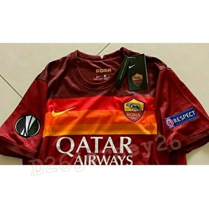 Jual Jersey As Roma Home 2020 2021 Official Full Patch Uel Europa League Jakarta Pusat Sulaiman2021 Tokopedia