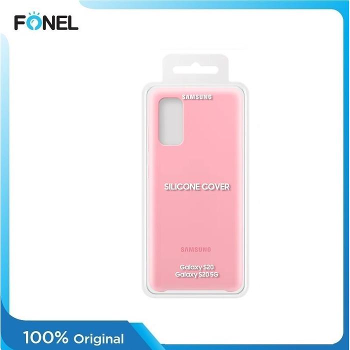 Foto Produk Samsung Original Silicone Cover Casing for Galaxy S20 - Pink dari FONEL