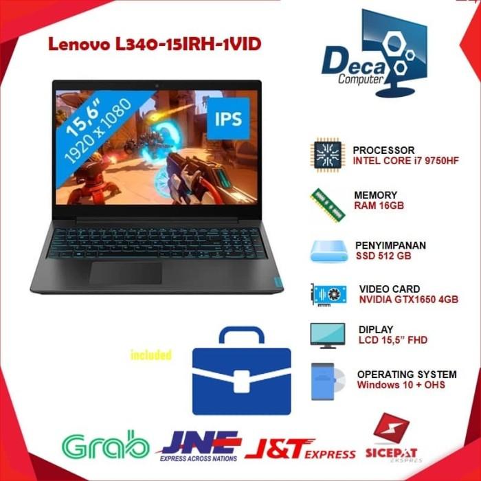 Foto Produk Lenovo Ideapad L340 15IRH HQID i7 9750H 512ssd GTX1650 WIN10 dari Deca Computer