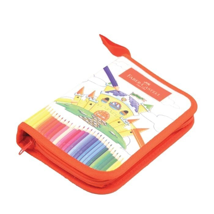 Foto Produk Colour Pencils Bag Set 24 Faber Castell Pensil Warna Color Classic dari Sentral Stationery