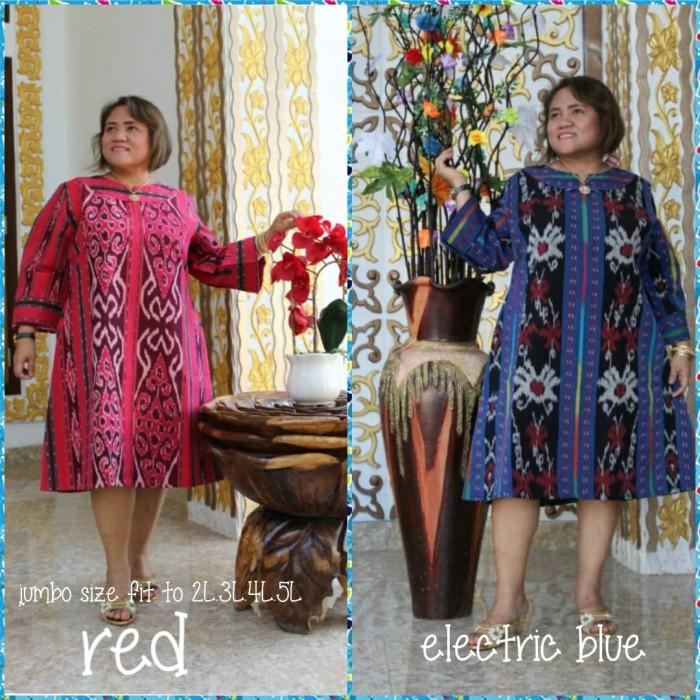 Foto Produk Tunik (mini dress) tenun jepara original full trikot( adem.ory)JUMBO dari Winnie Collection