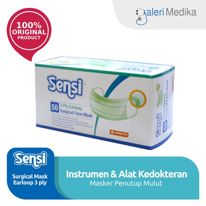 Foto Produk Masker Bedah Karet - Sensi Mask Earloop 3ply isi 50pcs dari Galeri Medika