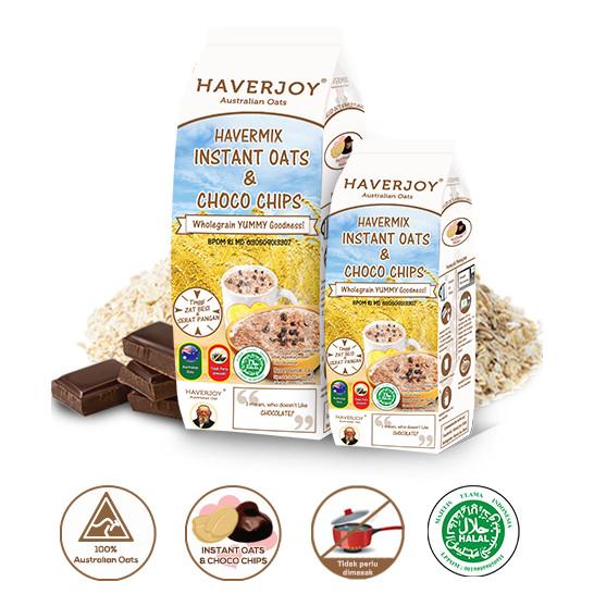 Foto Produk Haverjoy Havermix Instant Oats Choco Chips 1 kg dari Fu Kwang Mart