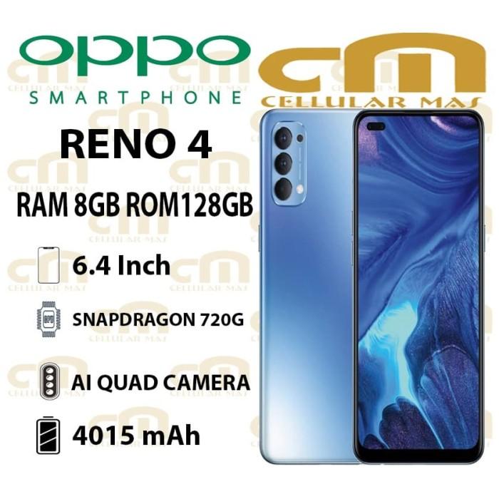 Foto Produk Oppo Reno 4 8/128 RAM 8GB ROM 128GB GARANSI RESMI OPPO - Hitam dari Cellular Mas