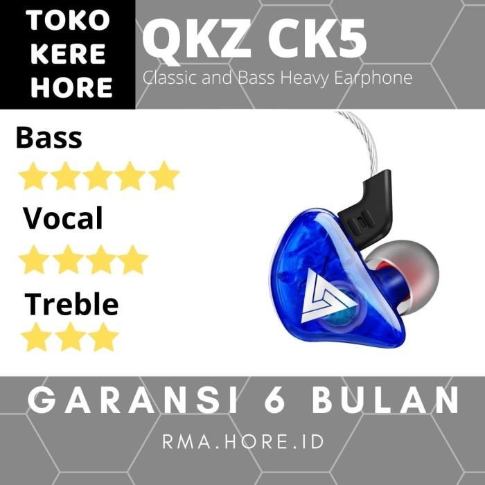 Foto Produk QKZ - CK5 Quality Knowledge Zenith With Mic In-Ear HiFi - Biru dari Toko Kere Hore