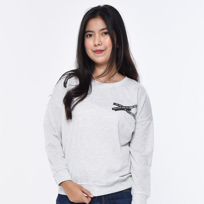 Foto Produk METALIZER 3320 Sweatshirt Sweater Wanita Baju Lengan Panjang Premium - Misty, S dari teetimeid