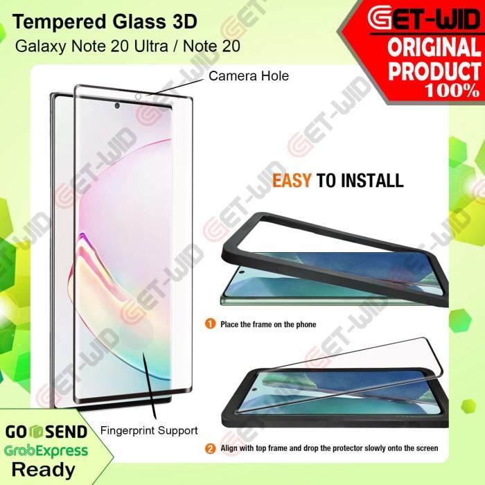 Foto Produk Tempered Glass 3D Samsung Galaxy Note 20 Ultra - Note 20 - Note 20 Ultra dari GET WID