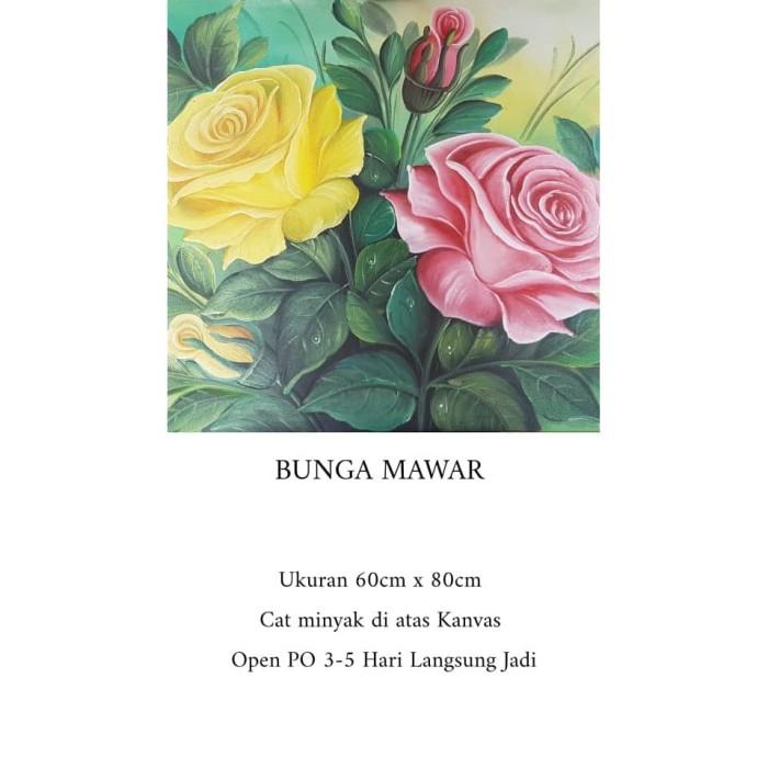 Jual Lukisan Bunga Mawar Kab Bandung Sanggarlukisjelekong Tokopedia