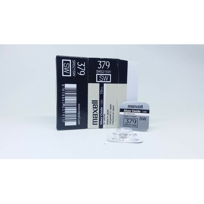Foto Produk Baterai Maxell 379 373 916 521 SR916SW SR521SW SR916 SR521 ORIGINAL - 379 dari grojam