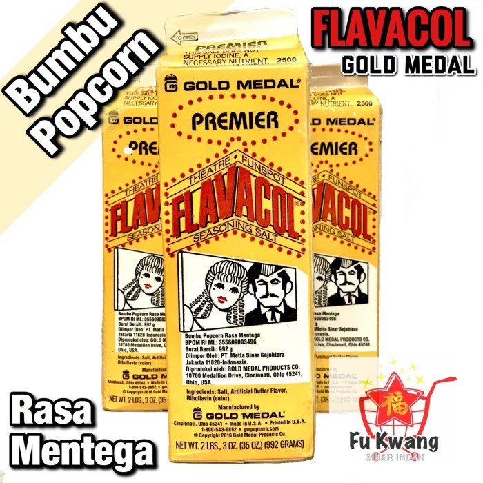 Foto Produk Flavacol Garam Bumbu Popcorn Bioskop Rasa Mentega Butter 992 gram dari Fu Kwang Mart