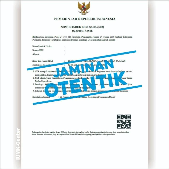 Jual Otentik Bikin Izin Usaha Iumk Dan Nib Semua Provinsi Kota Yogyakarta Iumk Center Tokopedia