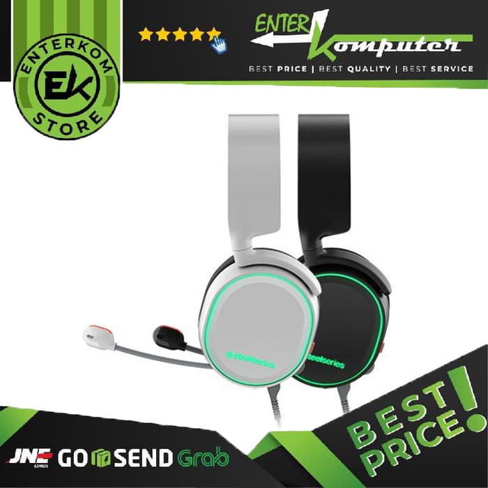 Foto Produk Steelseries Arctis 5 7.1 DTS Headphone:X Black RGB - Black/ White dari Enter Komputer Official