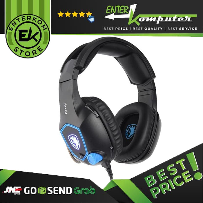 Foto Produk Sades Dazzle 7.1 Gaming Headset dari Enter Komputer Official