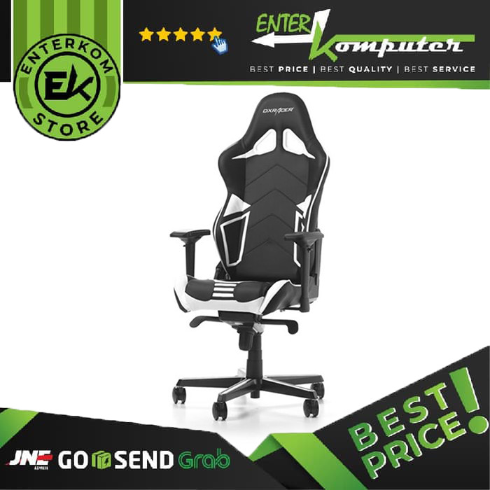 Foto Produk DX Racer Racing Series GC-R131-NW-V2 - Black, White dari Enter Komputer Official