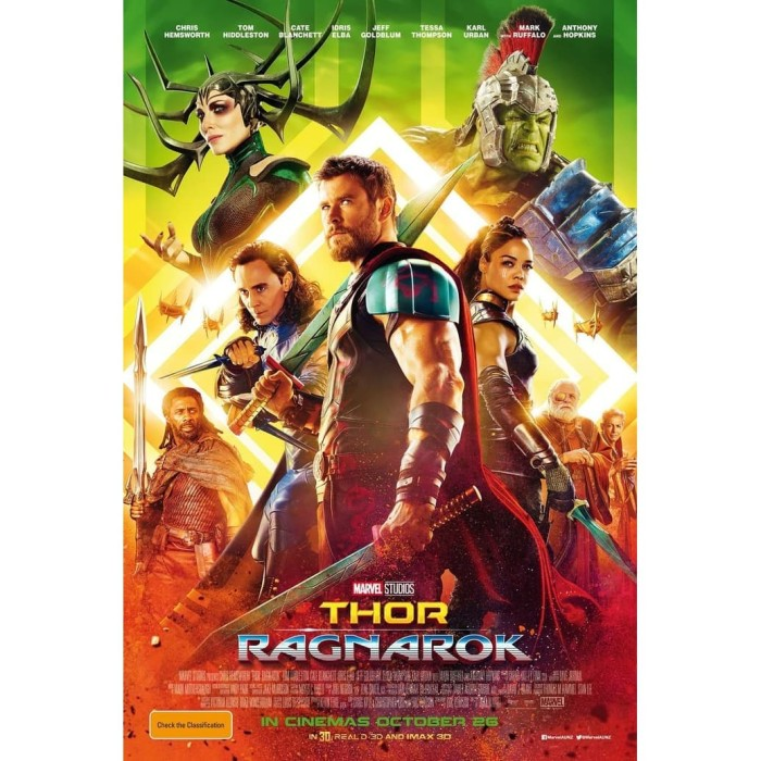 Jual Dvd Film Thor Ragnarok 2017 Kab Kediri Galaxy Film Tokopedia