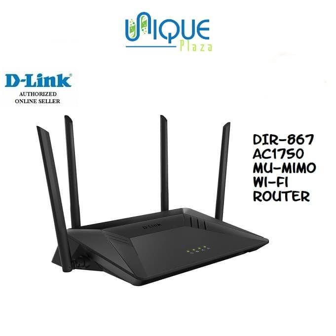 Foto Produk D-Link DLINK DIR-867 : AC1750 MU-MIMO Wireless Router dari Unique Plaza
