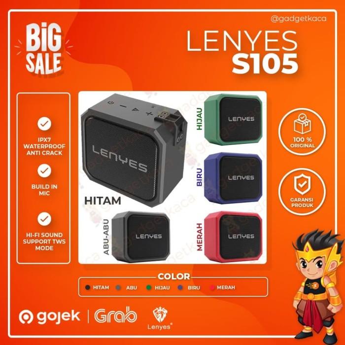 Foto Produk Speaker Bluetooth Lenyes S105 Tahan Banting Waterproof IPX7 Original - Hijau dari GadgetKaca