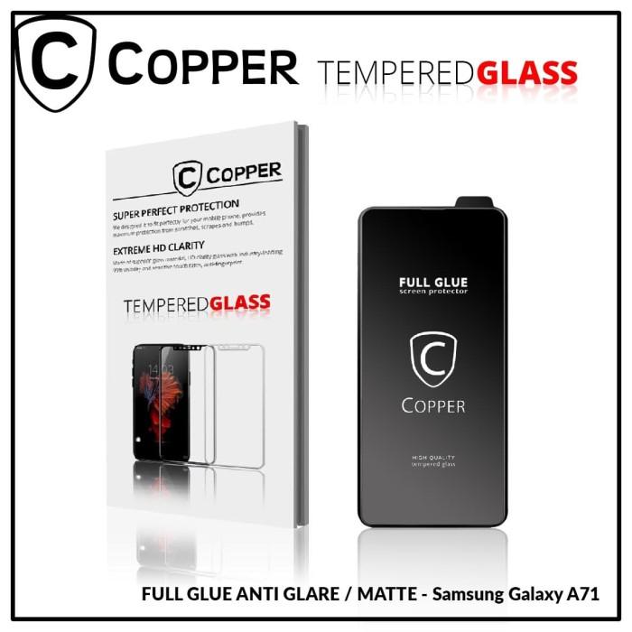 Foto Produk Samsung A71 - COPPER Tempered Glass Full Glue ANTI GLARE - MATTE dari Copper Indonesia