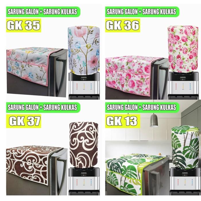 Foto Produk Sarung Kulkas dan Sarung Galon Monocrom Hitam Putih dari pondok aren shop
