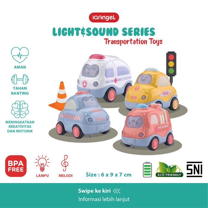 Foto Produk IQ ANGEL TRANSPORTATION CAR TOYS IQBT0147-1 / MAINAN BAYI EDUKATIF - Random dari KSM Baby and Kids