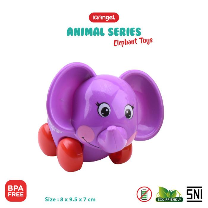 Foto Produk IQ ANGEL ELEPHANT TOYS - IQ631 / MAINAN BAYI EDUKATIF - Ungu dari KSM Baby and Kids