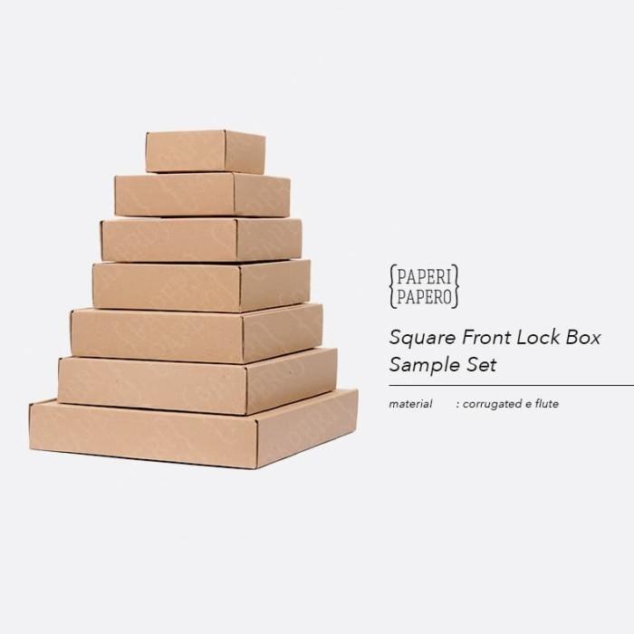 Foto Produk Sample Set Square Front Lock Box Setiap Ukuran - Sampel Kotak dari {Paperi Papero}