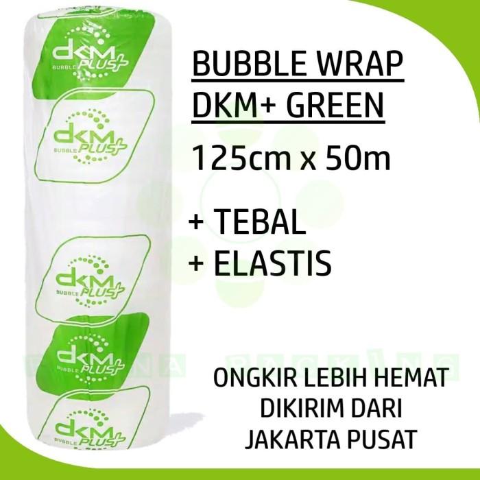 Foto Produk PLASTIK BUBBLE WRAP DKM+ GREEN 125CM X 50M dari Buana Packing