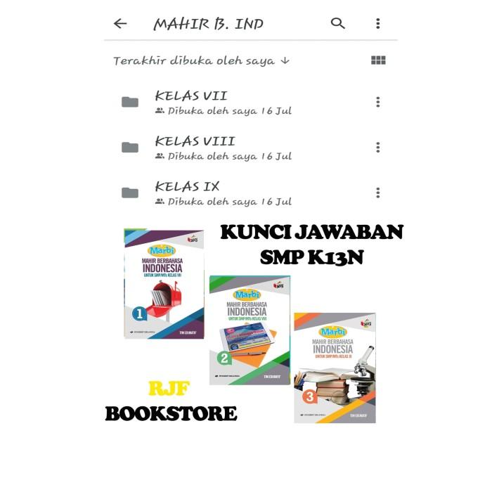 Jual Kunci Jawaban B Indonesia Smp K13n Kls 1 3 Penerbit Erlangga Jakarta Timur Rjf Bookstore Tokopedia
