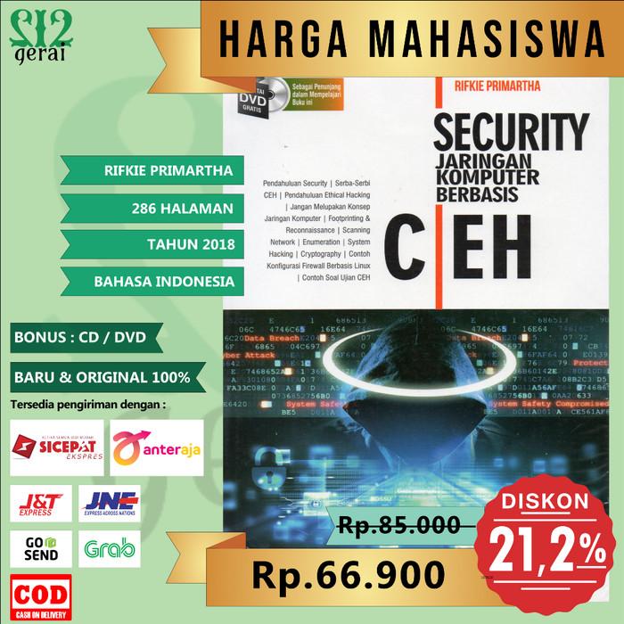 Foto Produk TERMURAH ORIGINAL Buku Security Jaringan Komputer Berbasis CEH dari Gerai 212