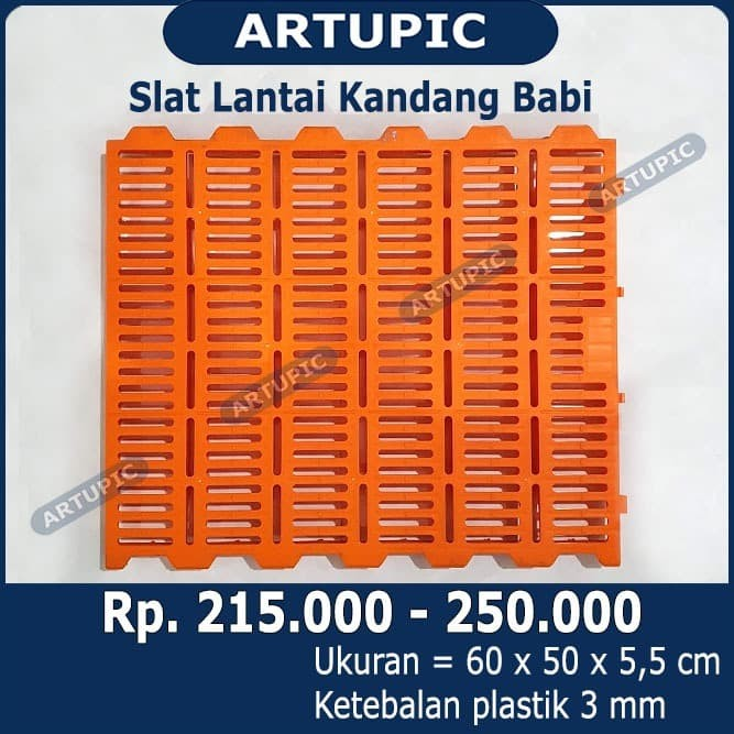 Foto Produk Slat Lantai Plastik Kandang Babi Artupic beli juga nipple nipel babi dari ArtupicPeralatanPeternak