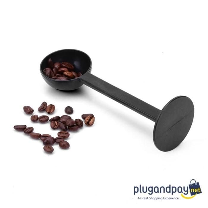 Foto Produk 2 in 1 Sendok Takar Kopi dan Tamper Kopi - Tamper Measuring Spoon Tamp dari plugandpay