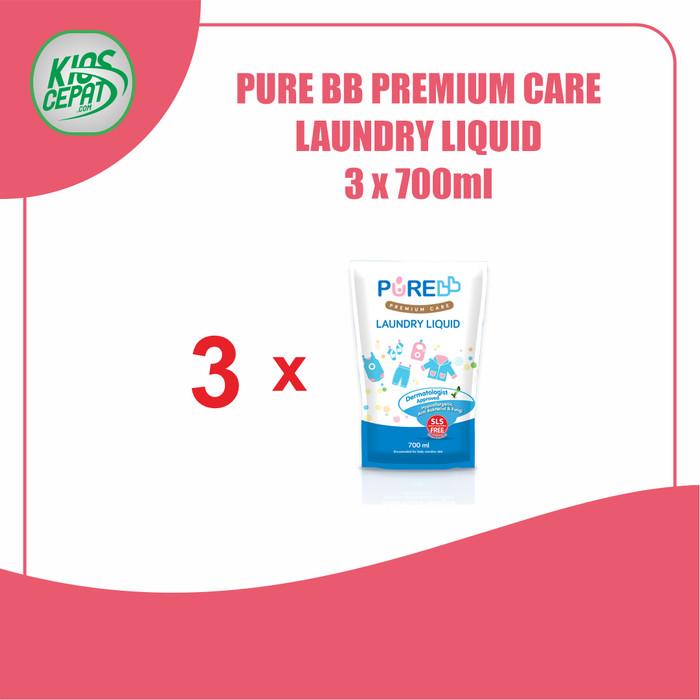 Foto Produk [SUPER BUNDLING] Pure BB Laundry Liquid Refill 700ml isi 3Pouch dari KiosCepat
