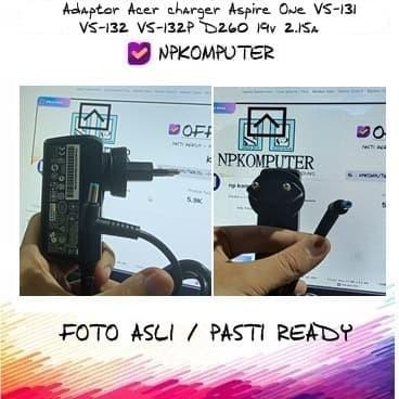 Foto Produk Adaptor Acer charger Aspire One V5-131 V5-132 V5-132P D260 19v 2.15a dari np komputer