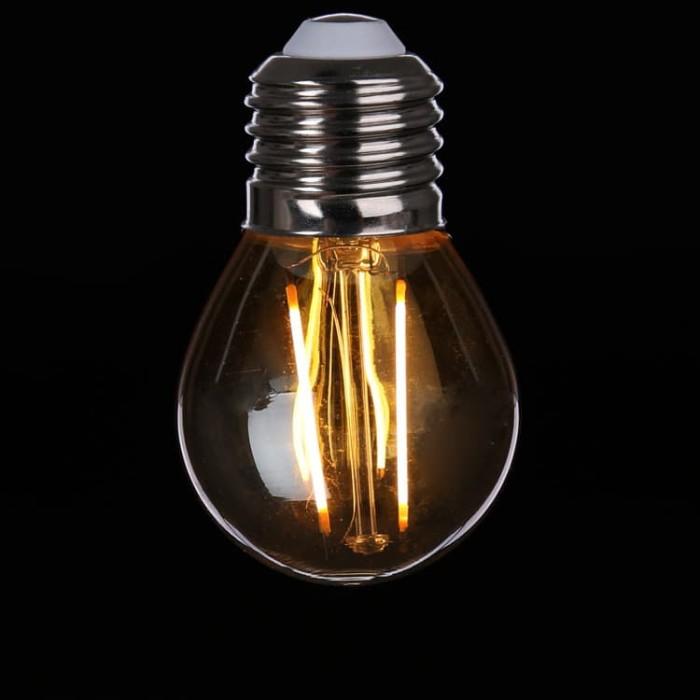 Foto Produk lampu LED Filamen 2 watt 2watt bohlam edison cafe 2w G45 bulb E27 dari tjong electric