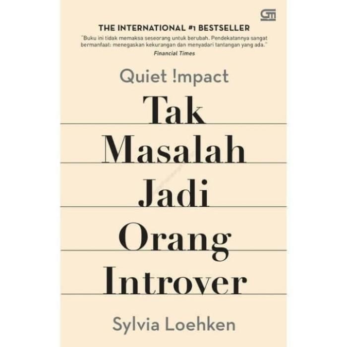 Jual Quiet Impact Tak Masalah Jadi Orang Introver Jakarta Selatan Toko Rasya Tokopedia