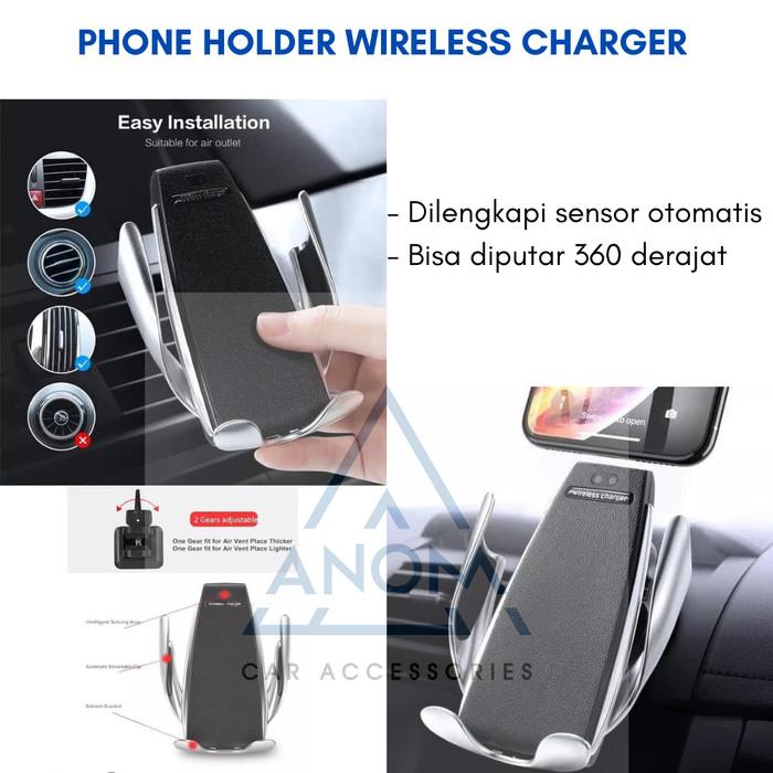 Foto Produk Car Phone Holder Wireless Charger Smart Casan Wifi Mobil Fast Charging dari anoM accs