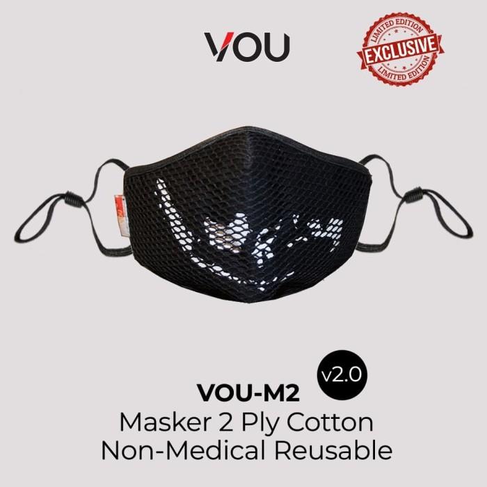 Foto Produk VOU masker kain 2 PLY Plus non medis reusable – Indonesia dari Uneed Indonesia