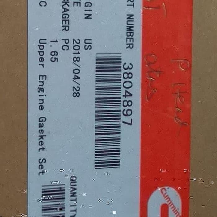 Foto Produk gasket upper 6 bta. pc 200-7, pc 200-6 3804897 / 380 dari good_price store 2