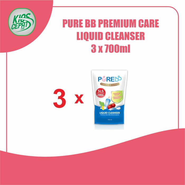 Foto Produk [SUPER BUNDLING] Pure BB Liquid Cleanser Refill 700ml isi 3Pouch dari KiosCepat