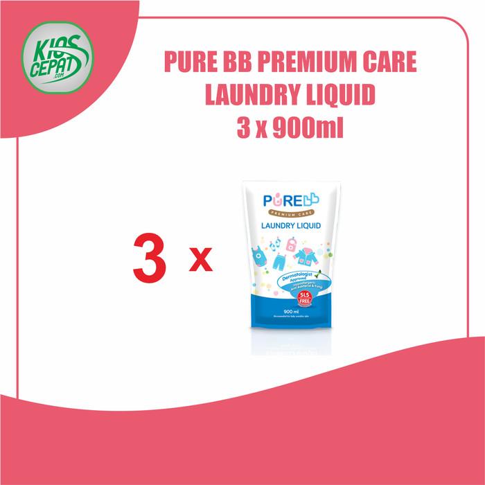 Foto Produk [SUPER BUNDLING] Pure BB Laundry Liquid Refill 900ml isi 3Pouch dari KiosCepat