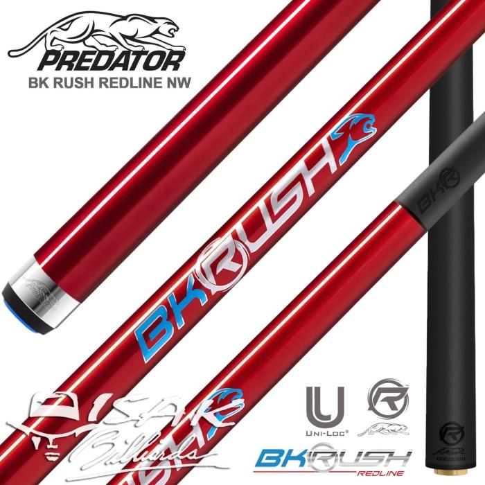 Foto Produk Predator BK Rush Redline NW - Break Cue Stick Red Billiard Carbon Cues dari ISAK Billiard Sport Co.