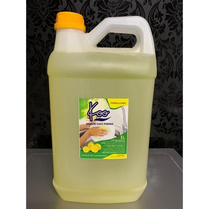 Foto Produk Koo Sabun Cuci Piring Dishwashing deterjen cair liquid galon 5 LITER dari Sentral Stationery