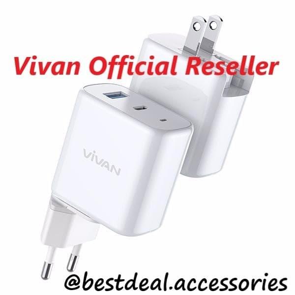 Foto Produk Vivan Power Boost Travel Adaptor Charger TC 45W 5A Quick Charge USB-C dari bestdeal official